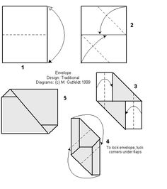 Origami, Envelopes and Origami diagrams on Pinterest