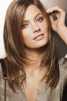 Layered Medium Length Hair With Face Framing Layers Hairstyles