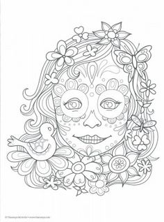 1000+ images about skull coloring/ Dia de los Muertos on