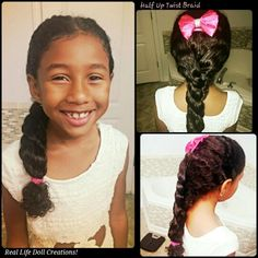 Real Life Doll Creations Hairstyles For Little Girls Braids