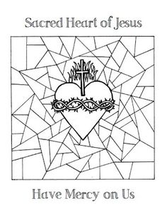 free coloring pages of the sacred heart of jesus