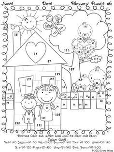 Spring Math Worksheets: Addition Color by Number Spring