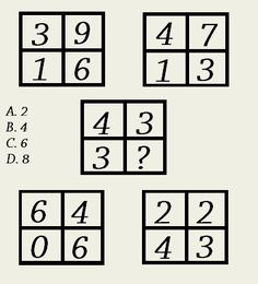 Solve the number sequence puzzle by replacing the question