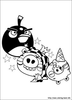 Angry birds, Coloring pages and Coloring on Pinterest