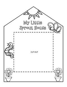 Greenhouse Bean/Seed Project Template for gardening