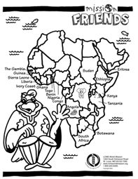 African rainforest animals (Site has many other free