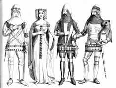 French medieval citizens clothing. King Henry VII costume