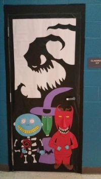 Halloween door, Door decorating and Zombies on Pinterest