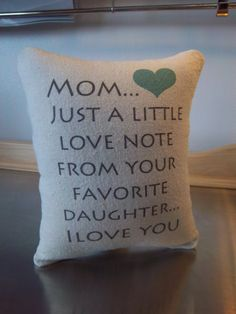 Mom Throw Pillow Favorite Mom T Mother Present Cotton Cushion