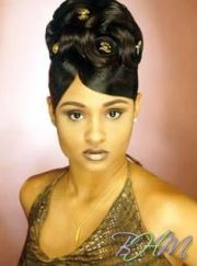 african american french twist updo