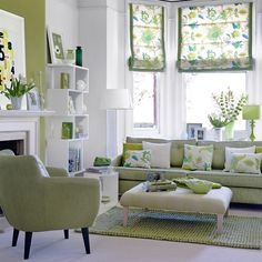 grey and green living