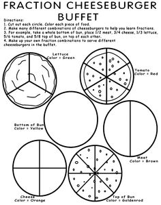 Fractions, Worksheets and Math on Pinterest