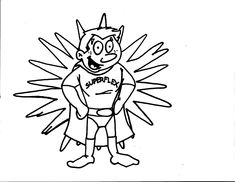 Space Invader Coloring Page. Team Unthinkables. Superflex
