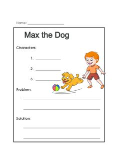 A first grade reading comprehension activity that features