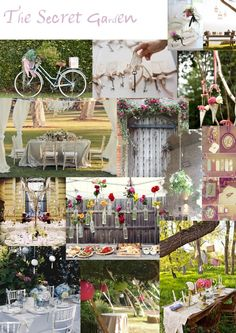 Secret Garden Themed Wedding Wedding Decor Inspirations