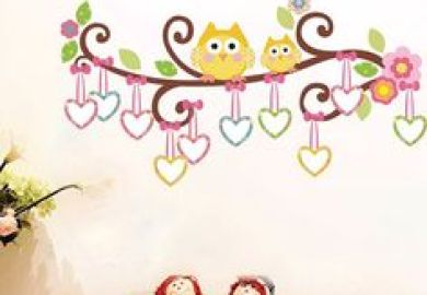 Galerie Sticker Hibou Owl Wall Decal Gallery Sur