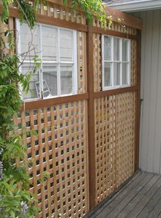 Lattice For Shade And Shadow Effect Can Be Wood Or Vinyl