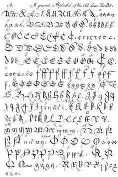 Calligraphy Alphabet : old english calligraphy alphabet