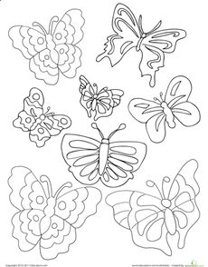 1000+ images about Kids-Butterfly printables, crafts