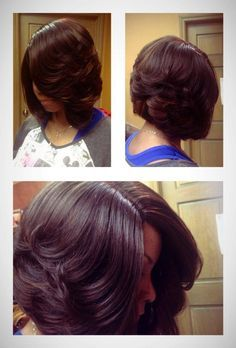 this is one of the iest bobs ever the deep side part makes it stand out done by