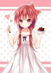anime girl with light pink hair