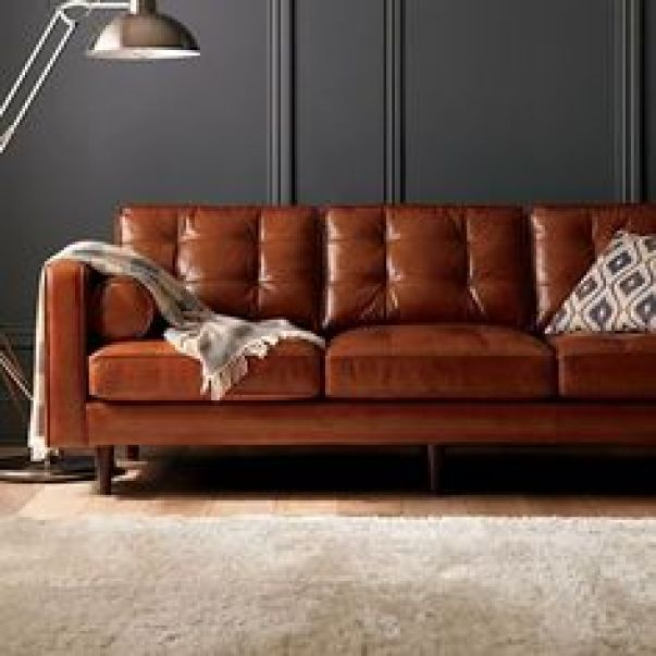 Image result for brown leather couch