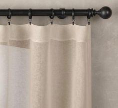 Linen Curtains Lined And Interlined With Ball Fringe Design