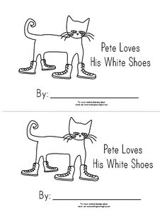 Printable Pete the Cat emergent reader booklet activity