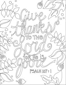 Give Thanks Bible Verse Coloring Pages Coloring Pages