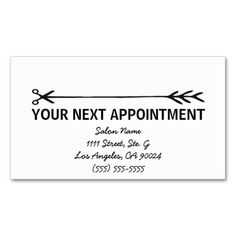 Simple Appointment Cards In White Double-Sided Standard