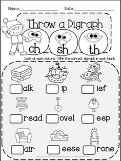 FREE WH Digraph word work unit. 84 pages in total. A page