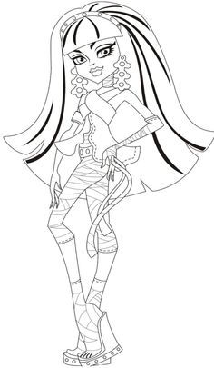 Printable Monster High Cleo De Nile Coloring For Kids Pages Kidsdrawing