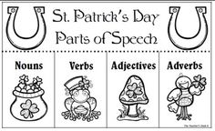 Venn diagram of two St. Patrick's Day picture books