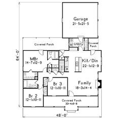 House Plan #20-1242 This 1386 square feet traditional