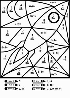 Two Digit Addition Coloring Worksheets Free: Free Coloring