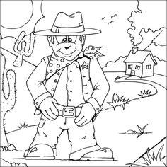 1000+ images about Cowboys Kleurplaten on Pinterest