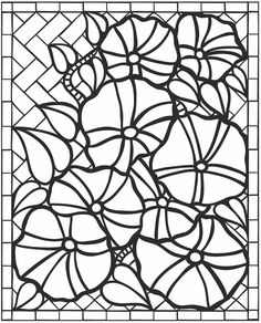 Aquarium Fish Stained Glass Coloring Book Dover