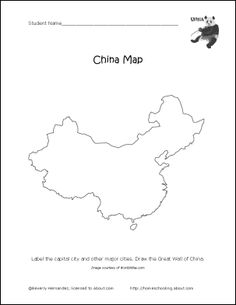 China, Maps and Map quiz on Pinterest