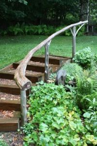 cottage outdoor stair railing ideas | outdoor stairs going ...