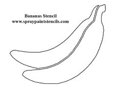 Banana peel pattern. Use the printable outline for crafts
