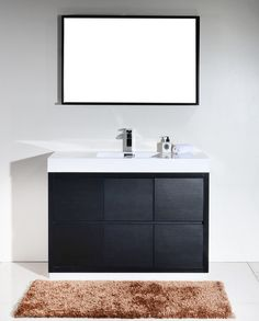 "bliss 48"" modern walnut vanity - the vanity store canada - 48"" - 1"