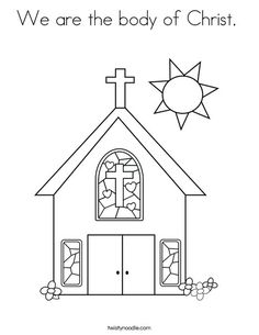 We Are the Church Activity and Coloring Sheet Bible Craft