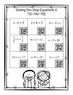1000+ images about Math 6 Equations: Write and Solve one