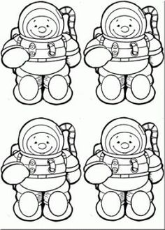 Astronauts, Printable templates and The astronauts on