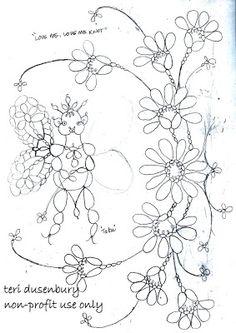 Tatting, Flower patterns and Patterns on Pinterest