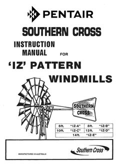 Southern Cross 'R' Pattern Windmill Erecting Instructions