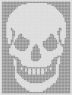 Free filet crochet pattern Jesus face 110 x 170 squares