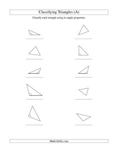 Mathworksheets4kids Triangle Interior Angles Answers