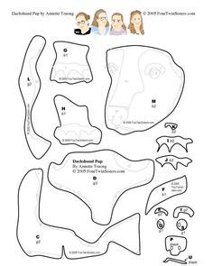 Here's a free dachshund applique/quilt template to