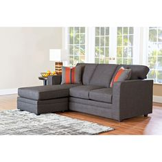 simmons reversible chaise sofa dark blue gray newton bed (costco)   julie's room pinterest ...